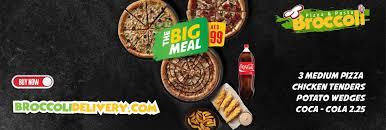 broccoli pizza pasta homepage order