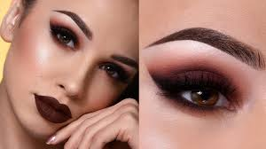 dark brown fall makeup tutorial