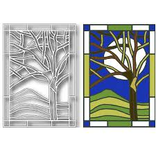 tutti designs winter tree stained glass