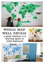World Map Wall Decals Perfect Addition To A Child S Room