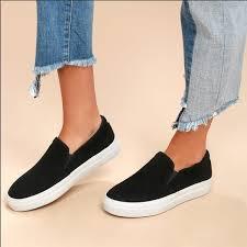 gills platform black suede sneakers