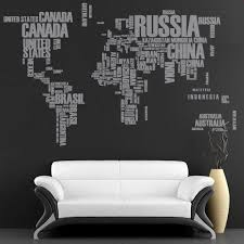 Decal World Map With Country Names World Map With Countries Home Name Wall Decals