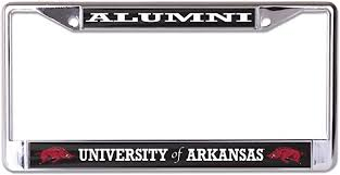 Amazon Com University Of Arkansas Alumni License Plate Frame Everything Else