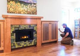 custom arts and crafts fireplace with