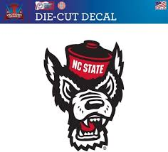 Amazon Com North Carolina State Wolfpack Nc State Logo Design Die Cut Vinyl Decal 1 Sports Outdoors