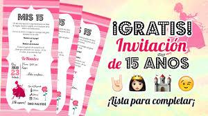 Invitacion De 15 Anos Descarga Gratis Milusska U Milusska Y