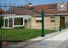 868 Decorative Twin Wire Fence Panels Double Wire Mesh Fence Garden Fence