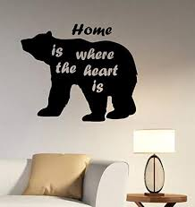 Amazon Com Inspirational Quote Wall Art Bear Decal Vinyl Sticker Animal Silhouette Decorations For Home Living Room Bedroom Office Home Kitchen