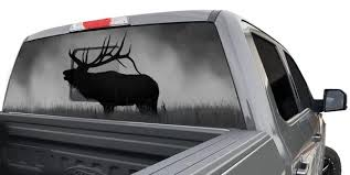 Bull Elk Window Graphic Upstream Images