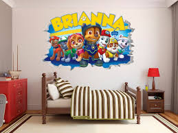 Paw Patrol Wall Decal Sticker Vinyl Wall Decor 3d Wall Hole Etsy