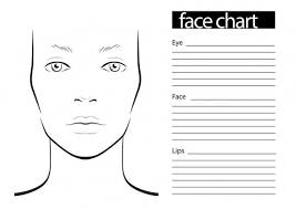 ᐈ outline of face template stock
