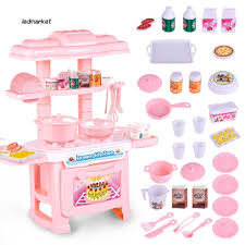 Set đồ chơi làm bếp mini làm bằng nhựa xinh xắn dành cho bé gái