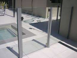 Glass Gate With Square Posts Pool Fencing Gold Coast Next Generation Fencin Pool Fence Fencing Gates Glass Pool Fencing
