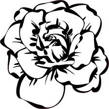 4in X 4in White Rose Sticker Vinyl Tumbler Decal Floral Vehicle Stickers Stickertalk