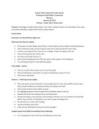 Kansas State University Faculty Senate Professional Staff Affairs Committee  Minutes January 20, 2015