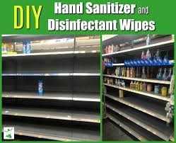 disinfectant wipes and hand sanitizer