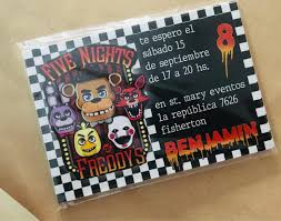 Invitacion Cumple Five Nights At Freddy S X 20 Unid 290 00 En