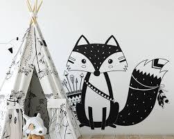God Tribal Fox Wall Decal Vinyl Woodland Fox Wall Sticker For Kids Room Decor Ebay
