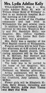 Lydia Adeline Kelly obit - Newspapers.com