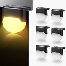 Amazon Com Zszmfh 6 Pack Solar Deck Lights Solar Step Light Fence Post Lights Auto On Off Outdoor Led Waterproof Lighting For Patio Yard Steps Fence Pathway Home Kitchen