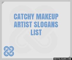 30 catchy makeup artist slogans list