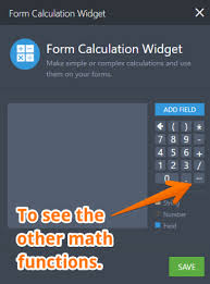 form calculation math function reference