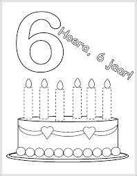 Kleurplaat Verjaardag Verjaardagskalender Kleurplaten