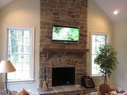 tv over fireplace ideas randy s home