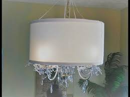 diy drum lampshade and chandelier
