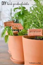 diy stamped metal herb garden markers