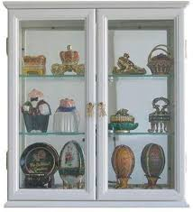 small wall mounted curio cabinet wall