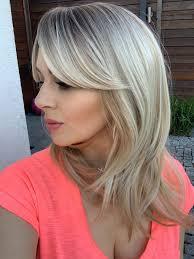 Edyta 40 Cm Ombre Blond Syntetyczna Peruka Z Grzywka Hair Lux