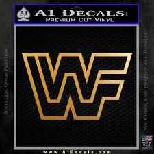 Wwf Wrestling Logo Decal Sticker Retro D2 Wwe A1 Decals