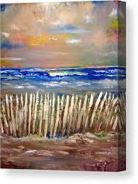 Beach Fence Canvas Print Canvas Art By Patricia Clark Taylor