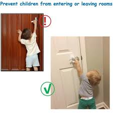 Vova 1pcs 2pcs Child Proof Door Lever Lock Baby Kids Safety Protection Anti Opening Door Handle Cabinet Drawer Doorknob Lock With 3m Adhesive For Home Living Supplies