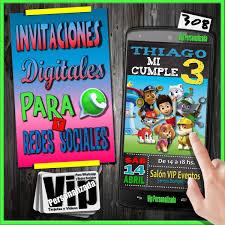Invitacion Digital 171 Cumpleanos Paw Patrol Patrulla 99