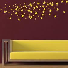 Confetti Wall Decal Set Of Gold Stars Decals Vinyl Sticker Nursery Decor Ky78 Ebay