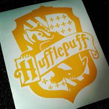 Hufflepuff Decal 5 Inch House Crest Hogwarts Hufflepuff Badger Vinyl Car Laptop Sticker Window Potterhead Ha Harry Potter Stickers Bumper Stickers Hogwarts