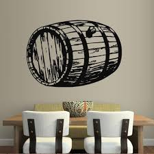 Amazon Com Wall Decal Sticker Vinyl Decor Barrel Capacity Wine Storage Cafe Restaurant M916 Handmade