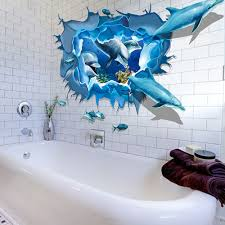 2020 Hot Sale Removable Dolphin 3d Sea Ocean Stickers Wall Decal Mural Diy Decor Kid Room Art Adesivo De Parede D38jl24 Adesivo De Parede Sticker Wall Decaldecoration Kids Room Aliexpress