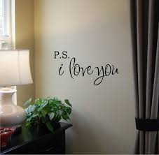 P S I Love You Vinyl Wall Decal Etsy