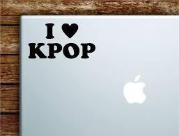 I Love Kpop Laptop Wall Decal Sticker Vinyl Art Quote Macbook Apple De Boop Decals