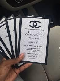 Chanel Birthday Invitations Chanel Birthday Party Chanel