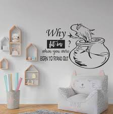 Dr Seuss Quote Think And Wonder Vinyl Wall Decal