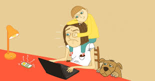 Image result for clingy baby cartoon