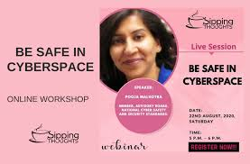 Be Safe In Cyberspace   Watch Webinar Video   Pooja Malhotra - Sipping  Thoughts