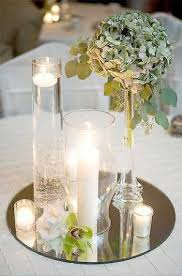 mirror centerpieces decorations and