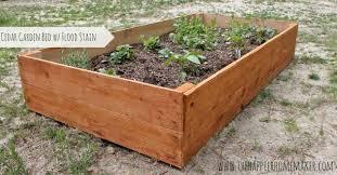 diy cedar raised garden bed with