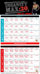 insanity max 30 workout calendar