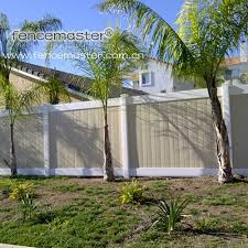 China Taupe Vinyl Fence Special Color Pvc Fence China Vinyl Fence